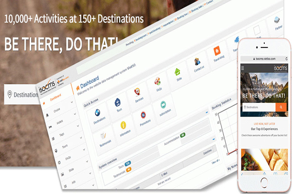 Phần mềm điều hành doanh nghiệp TravelMaster tích hợp trực tiếp với hệ quản trị website isoCMS