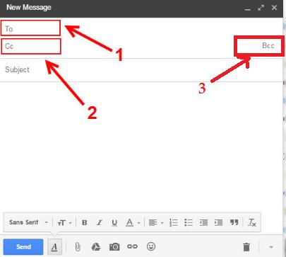 Cc và Bcc trong email google bản chất khác nhau như thế nào ???