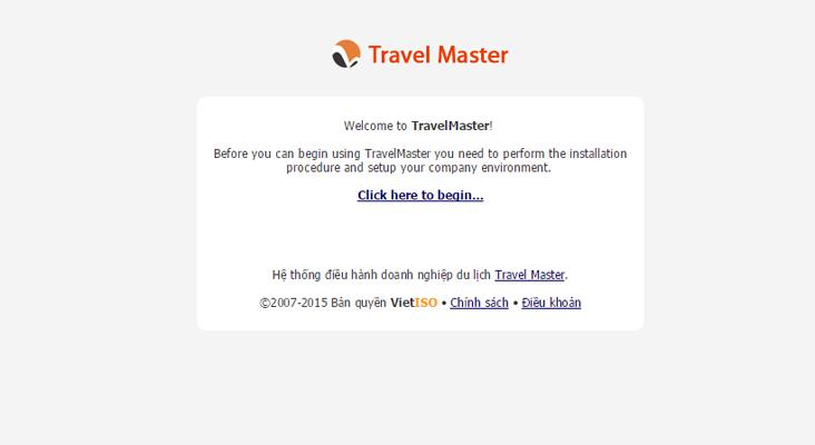 Hướng dẫn cài đặt TravelMaster