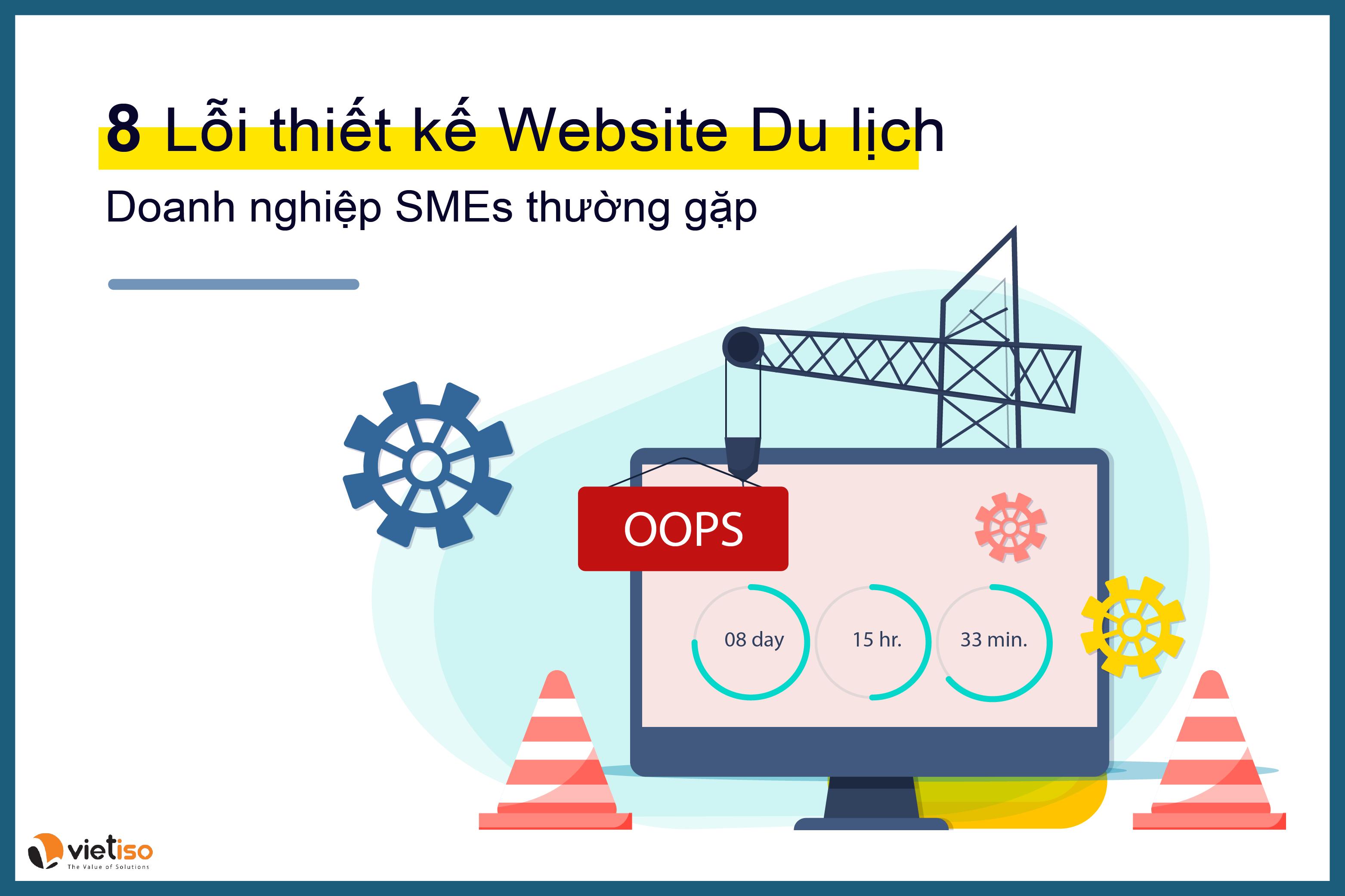 8 lỗi Thiết kế Website du lịch các Doanh nghiệp SMEs thường gặp