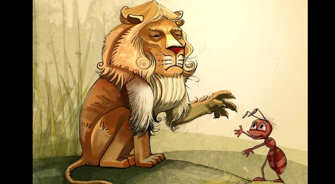 Bài học quản trị sâu sắc từ câu chuyện Kiến và Sư tử
