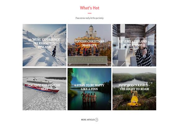 Website du lich hien dai - Visitfinland