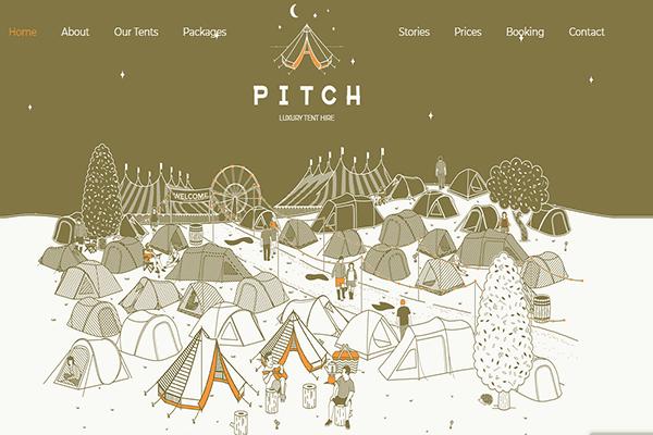 Website du lich hien dai - Pitchtent