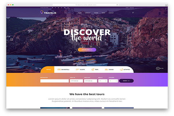 download mien phi website du lịch travelix
