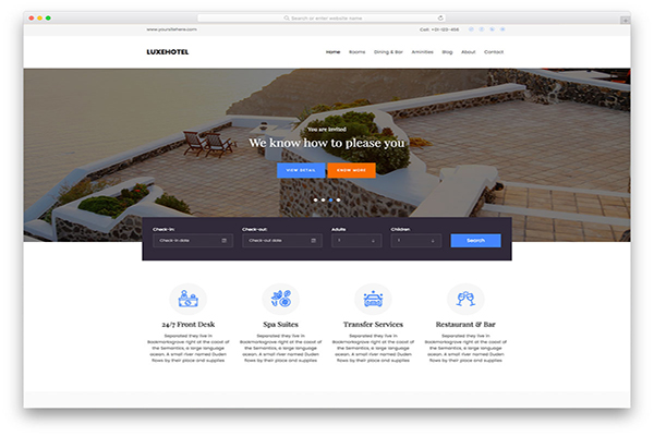 download mien phi website du lịch luxehotel