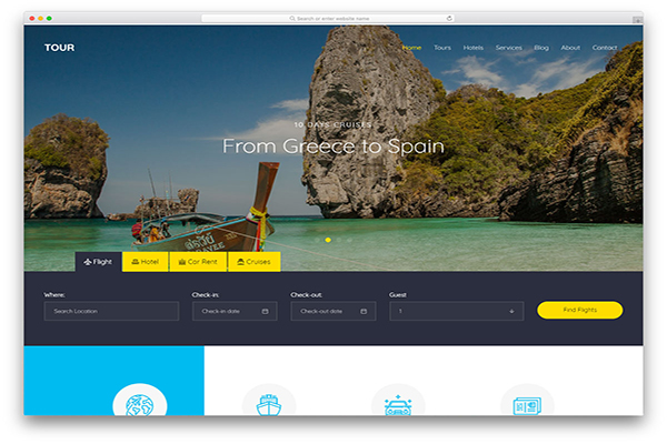 download mien phi website du lịch tour