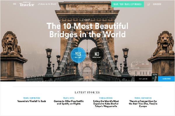 website du lich noi tieng the gioi Conde nast traveller