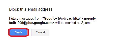 block email google