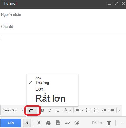 định dang văn bản email google