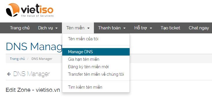 Truy cập DNS link