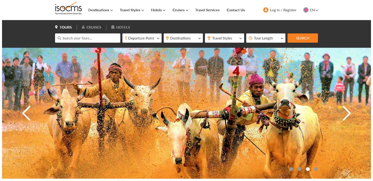 Thông báo thay đổi giao diện Website du lịch dựa trên hệ thống lõi isoCMS