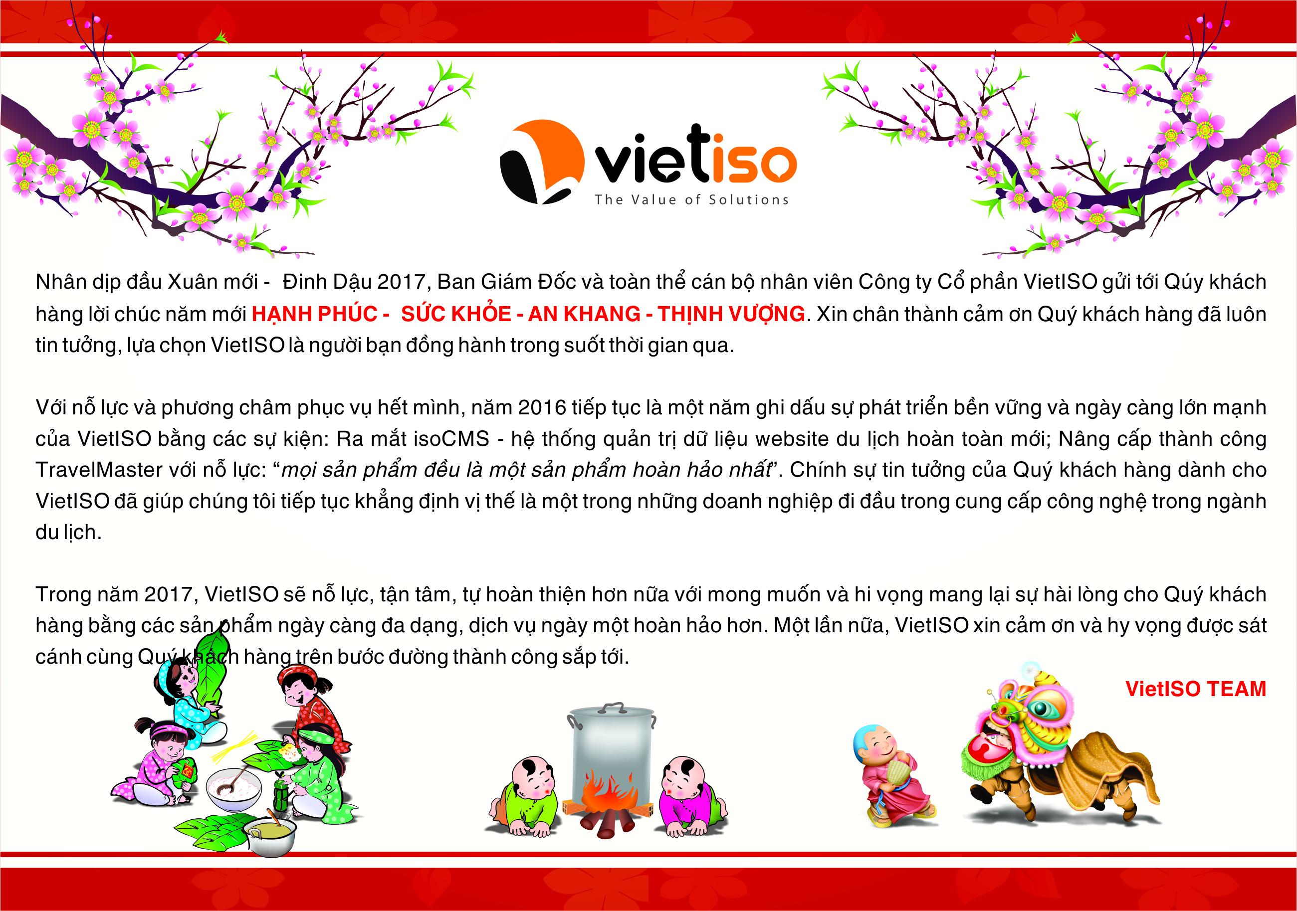 Thư chúc tết 2017 - VIETISO.COM